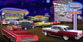 Cars at Drive-In